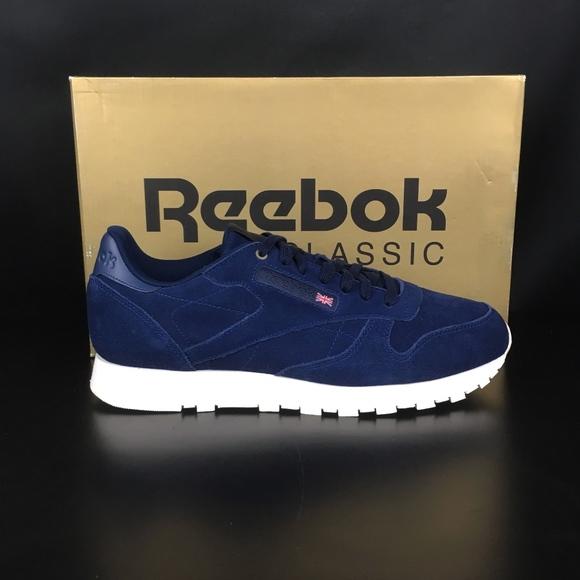 e808cf014c3 Reebok Blue Note Chalk Classic Leather MCC